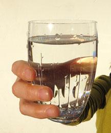 Riesener Wasser: Probieren Sie!