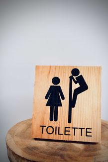 Panneau et objets de déco pour toilette t salle de bain