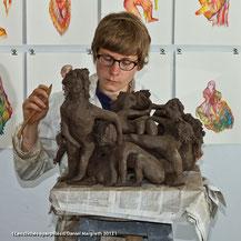 5 juin 2012, En son atelier, Le Pré Saint gervais (93).