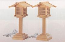 木製神前灯籠電装式