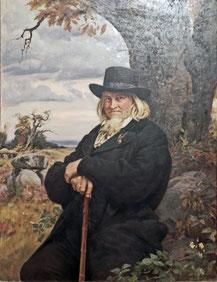 """""""Bildnis des Dichters Heinrich August Hoffmann von Fallersleben"""" von Ernst Henseler, 1898"""
