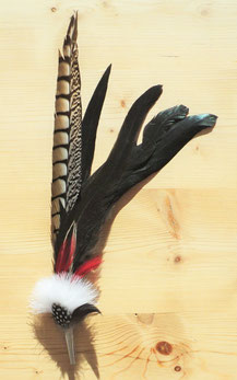 Feder mit Hülse, 41-43 cm