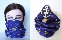 Multifunktionstuch Edelweiß lila / purple