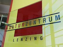 Kulturzentrum Lenzing Hinweisschild und Logo