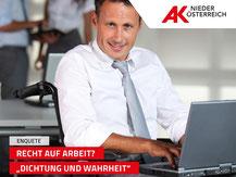 Enquete Recht und Arbeit in Sankt Pölten mit Induktionsschleife