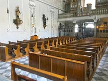 Kirchenbank in der Heilg Geist Kirche Nähe Innsbruck