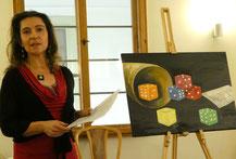 Jana veranschaulichte ihre Geschichte mit einem eigens zu ihrem Text gemalten Bild.