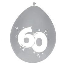 """Ballonnen """"diamant"""" 60 6 stuks € 2,25"""