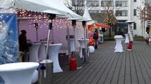 Weihnachtsmarktbude mieten und Weihnachtsbuden mit leckerem Glühwein im Verleih mieten
