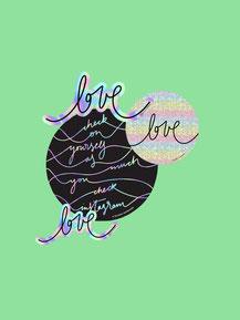 Sticker Set »love+selfcare«