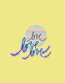 NEU: Sticker Set »love love love« (limitiert)
