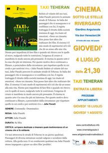 Rivergaro: Cinema Sotto Le Stelle 2019   Luglio, giovedì 4 : TAXI TEHERAN dalle ore 21:30 giardino di Via Don Veneziani, 64 - Rivergaro (PC) di fronte alla Casa del Popolo