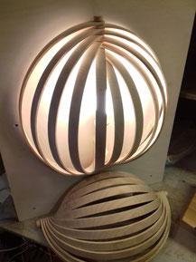 lampe bois, applique en frêne modulable. CCL ébéniste