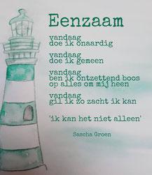 Gedicht Eenzaam - Weduwe in Opleiding - Sascha Groen