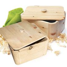 Brottöpfe aus Zirbenholz