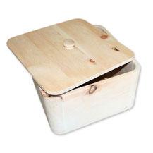 Brottopf aus Zirbenholz, quadratisch