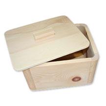Brottopf aus Zirbenholz, rechteckig