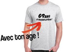 t-shirt pour un pecheur de 60 ans