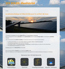 Site 123soleil-electricite.fr  crée avec e-cime.fr creation de site internet