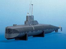 559,  deutsches U-Boot U9,  Schreiber-Bogen Kartonmodell im Maßstab 1:100
