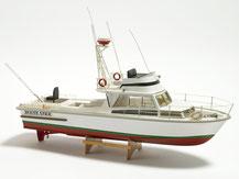 Modell-Baukasten einer Motoryacht von der Firma Krick,  Billing Boat, BB0570