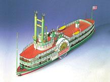 71827,  Mississippi Steamboat Seitenraddampfer,  Schreiber-Bogen Kartonmodell im Maßstab 1: 100