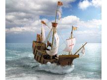 "648,  Kolumbusschiff ""Santa Maria"",  Schreiber-Bogen Kartonmodell im Maßstab 1:100"