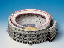 594,  Kolosseum Rom,  Schreiber-Bogen Kartonmodell im Maßstab 1:400