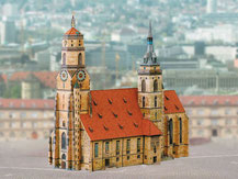 664,  Stiftskirche Stuttgart,  Kartonmodell im Maßstab 1:250