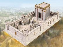 731,  Tempel in Jerusalem,  Schreiber-Bogen Kartonmodell im Maßstab 1:400