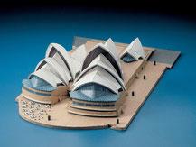 72433,  Sydney Opera,  Schreiber-Bogen Kartonmodell im Maßstab 1:300