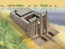 711,  Ägyptischer Tempel,  Schreiber-Bogen Kartonmodell im Maßstab 1:300