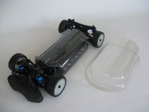 Glasklare Regenabdeckungen von Modellbau Kroh für das LRP S 10 Chassis