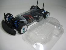 Glasklare Regenabdeckungen von Modellbau Kroh für das TAMIYA TB-04 Chassis