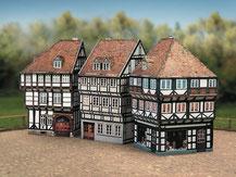 628,  Altstadt-Set 2,  Schreiber-Bogen Kartonmodell im Maßstab 1:87