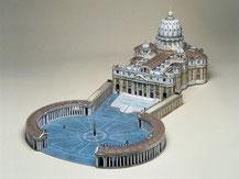 564,  Petersdom in Rom,  Kartonmodell im Maßstab 1:400