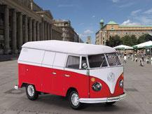 661, VW-Bus  ,  Schreiber-Bogen Kartonmodell im Maßstab 1:2432