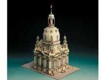 591,  Dresdner Frauenkirche,  Kartonmodell im Maßstab 1:300