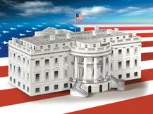 613,  Weißes Haus  Washington,  Schreiber-Bogen Kartonmodell im Maßstab 1:160