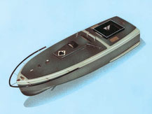 Modell eines deutschen Sprengbootes aus Holz von der Firma Aeronaut,  305100