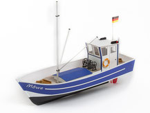 Modell eines Fischkutters in Holz von der Firma Aeronaut,  309100