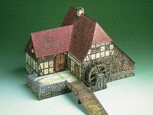 565,  Wassermühle,  Schreiber-Bogen Kartonmodell im Maßstab 1:87