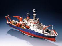 72440,  Forschungsschiff Meteor,  Schreiber-Bogen Kartonmodell im Maßstab 1:200