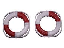 rot/ weiße Modell-Rettungsringe von Aeronaut