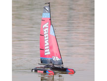 Segel-Katamaran von Krick, rot-schwarz, jw8807R