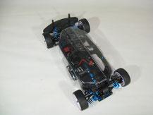 Glasklare Regenabdeckungen von Modellbau Kroh für das TAMIYA TA-07 Chassis