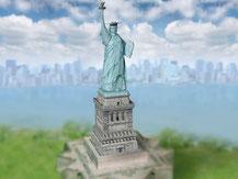 703,  Freiheitsstatue  New York,  Schreiber-Bogen Kartonmodell im Maßstab 1:160
