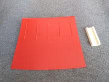 roter Curbs für RC Modellrennstrecke