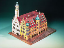 72432,  Rathaus Rothenburg o. Tauber,  Schreiber-Bogen Kartonmodell im Maßstab 1:160
