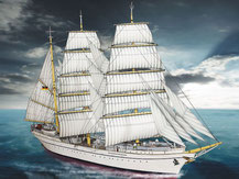 """616,  Segelschiff """"Gorch Fock"""",  Schreiber-Bogen Kartonmodell im Maßstab 1:200"""